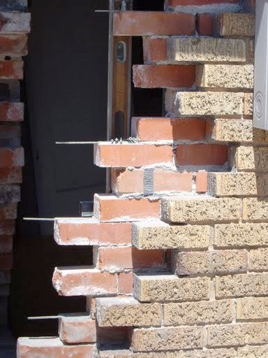 Bricks replaced with stays