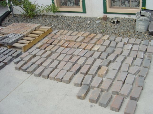 Inventory and cleaning of original brick